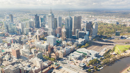 4k Timelapse Video Of Downtown Melbourne, Australia stock footage
