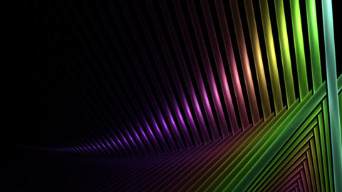 Bright Colorful Intersected Sticks Animation