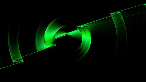 Green Dynamic Rotational Motion Animation