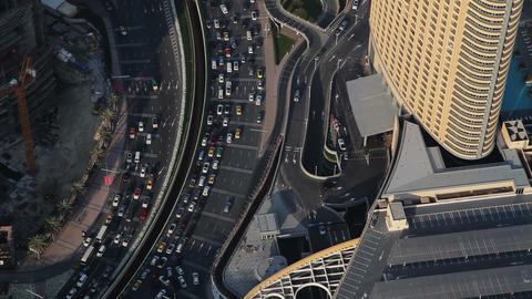 Dubai Busy Street Highway Traffic Footage