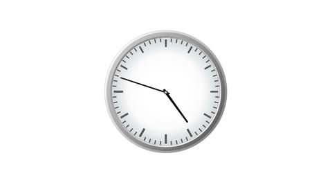 Clock Time Lapse With Zoom stock footage