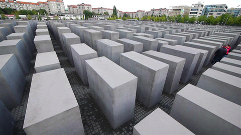 The Holocaust Memorial, Berlin, Germany Footage