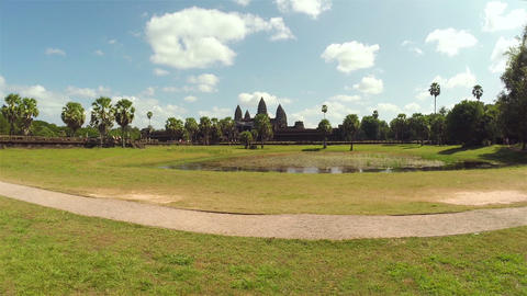 Angkor Wat Temple In Siem Reap, Cambodia, Steadicam Shot stock footage