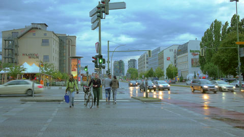 Street traffic in Berlin, Germany, 4k UHD Footage