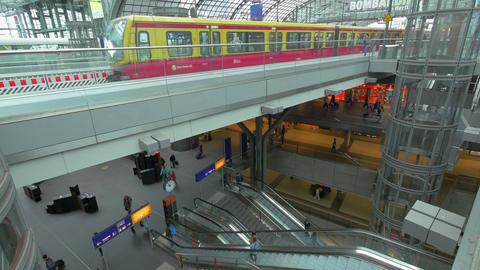 Railway Station in Berlin, Germany, 4k UHD Footage