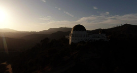 Wide View Of Scenery Around Griffith Observatory stock footage
