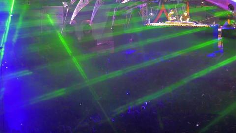 Light show at outdoor music festival Footage