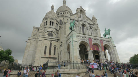 Sacre-C?ur Basilica, Paris, France, 4k, UHD Footage