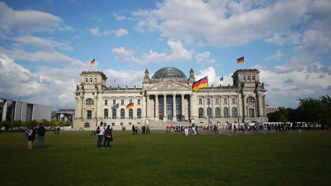 The Reichstag, Berlin, Germany Footage