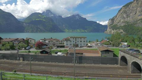 Alpine landscape of Switzerland, 4k UHD Footage
