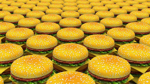 Infinity Motion Hamburgers stock footage