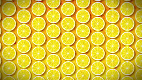 Loopable Motion Background, soft motion seamless pattern lemon Animation