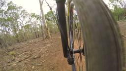 4k Timelapse Video Of Mountain Biking stock footage
