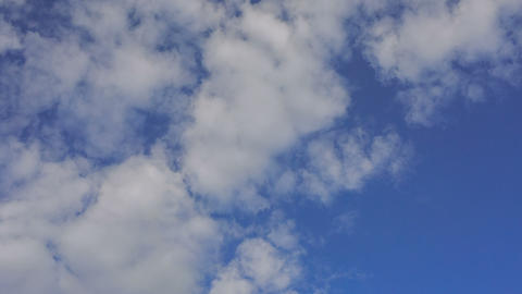 Fast cloud movement on blue sky, timelapse Live Action