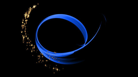 Blue Elegant Motion, Starry Flowing Energy Animation