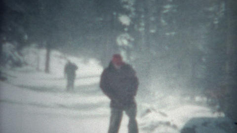 (8mm Film) Snowshoeing Winter Snow 1956 Live Action