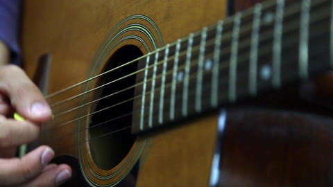 Arpegios Acoustic Guitar stock footage