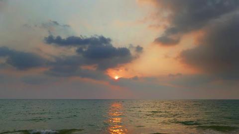 tropical sea sunset on the beach - timelapse Archivo