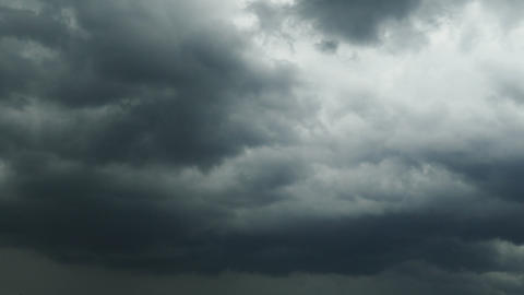 dark storm clouds are moving fast - timelapse Footage