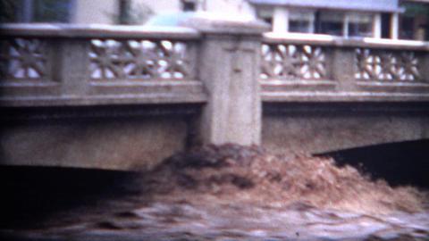 (8mm Film) Flood Damage Colorado 1968 stock footage