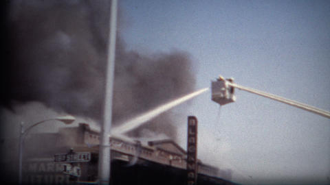 (8mm Film) Building Fire 16th Pearl Boulder Colorado 1968 Live Action
