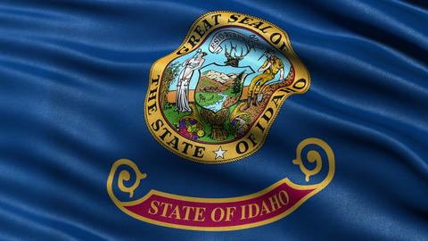 4K Idaho state flag seamless loop Ultra-HD Animation
