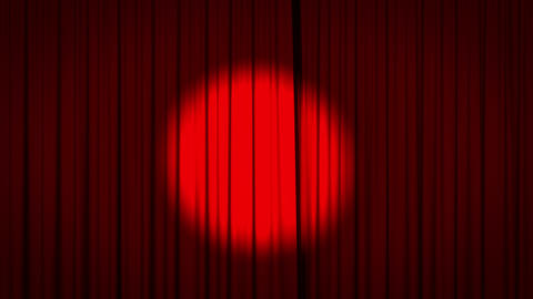 Red curtain with spotlight opening Animation