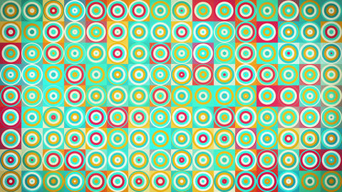 circles and squares geometric loopable background CG動画素材