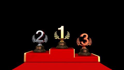 Podium Prize Trophy Ba HD Stock Video Footage