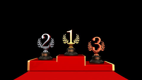 Podium Prize Trophy Bb HD Stock Video Footage