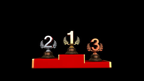 Podium Prize Trophy Ca HD Stock Video Footage