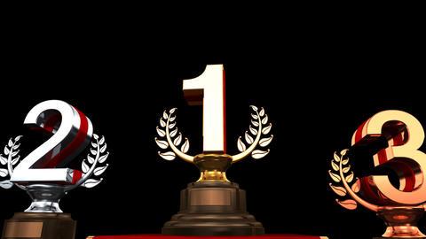 Podium Prize Trophy Ca HD Animation