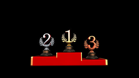 Podium Prize Trophy Cb HD Stock Video Footage