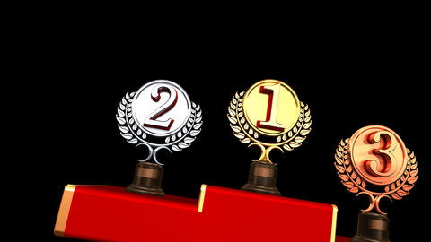 Podium Prize Trophy Cc HD Stock Video Footage