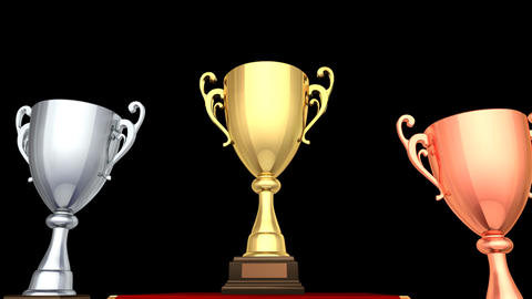 Podium Prize Trophy Cup Ca HD Animation