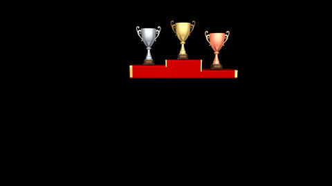 Podium Prize Trophy Cup Da HD Stock Video Footage