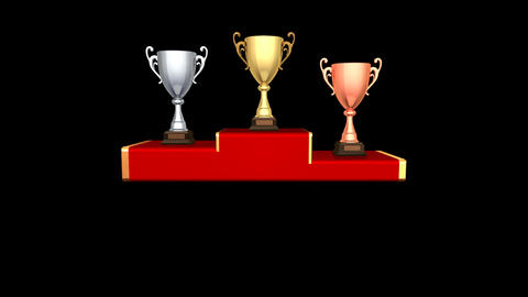 Podium Prize Trophy Cup Da HD Animation