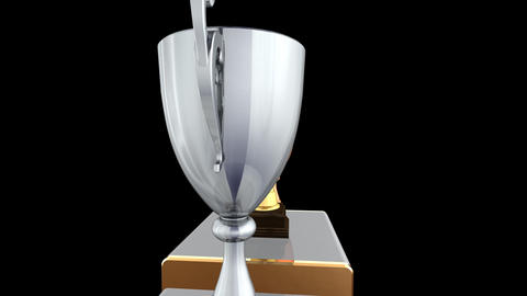 Podium Prize Trophy Cup Ea2 HD Stock Video Footage