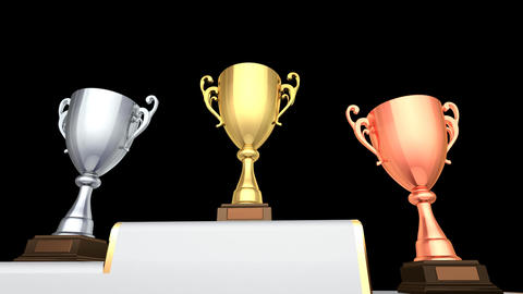 Podium Prize Trophy Cup Ea2 HD Animation