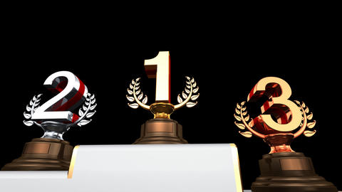 Podium Prize Trophy Ea2 HD Animation