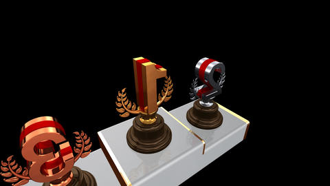 Podium Prize Trophy Ea2 HD Stock Video Footage