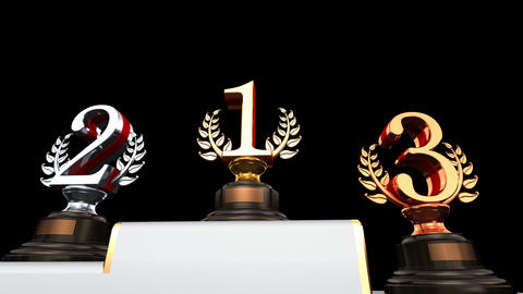 Podium Prize Trophy Eb2 HD Animation