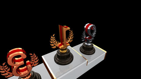 Podium Prize Trophy Eb2 HD Stock Video Footage