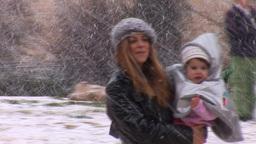 Jerusalem snow 2012 4 Stock Video Footage