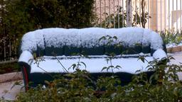 Jerusalem snow 2012 14 Stock Video Footage