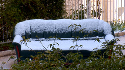Jerusalem snow 2012 14 Stock Video Footage