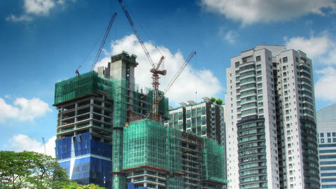 Construction activity time lapse Stock Video Footage