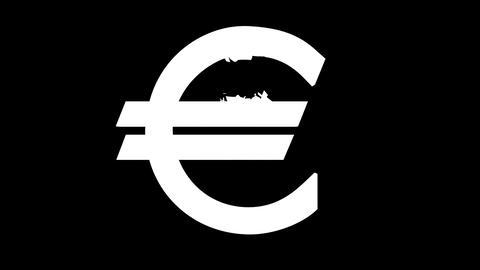 The Crumbling Euro Stock Video Footage