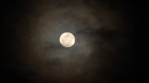 soft clouds full moon Stock Video Footage