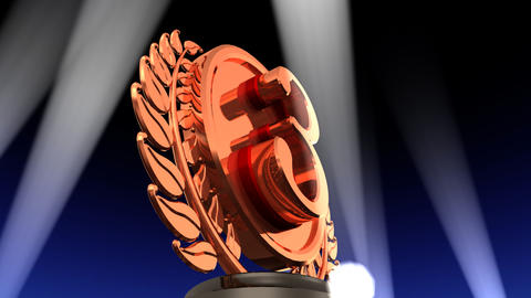 Medal Prize Trophy Db2 HD Stock Video Footage